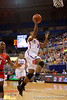 Florida Gators guard January Miller scores on a breakaway in the first half.  Florida Gators Womens Basketball vs Georgia Bulldogs.  February 28th, 2015. Gator Country photo by David Bowie.