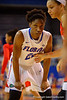 Florida Gators forward Kayla Lewis waits for a inbounds play during the first half.  Florida Gators Womens Basketball vs Georgia Bulldogs.  February 28th, 2015. Gator Country photo by David Bowie.