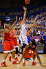 Florida Gators forward Haley Lorenzen puts up a shot during the first half.  Florida Gators Womens Basketball vs Georgia Bulldogs.  February 28th, 2015. Gator Country photo by David Bowie.