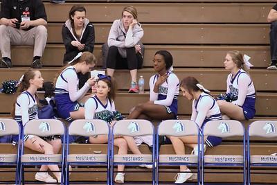 Varsity Cheer MN vs Columbus varsity girls bball