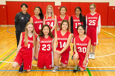 MS Girls Basketball B Team 2014-15