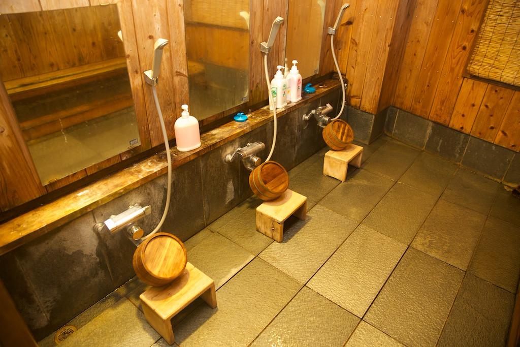 Showers at the Minshuku