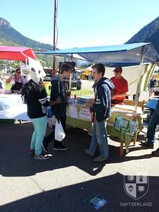 Attending a Swiss cheese festival