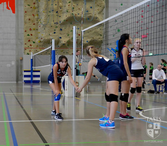 Girls Volleyball Action