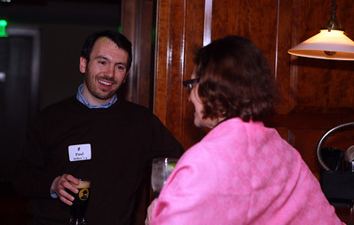 Paul Selker '04 speaks with Head of School Rebecca Upham