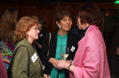 Trustee Janet Storella '74, Mary Lord '71, and Head of School Rebecca Upham