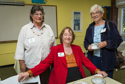 Former Faculty Susan Ely, Kitty Beer '55, and Former Faculty Beverly Balise