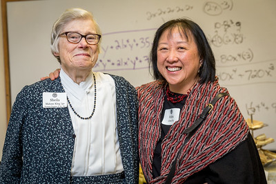 Sheila Malone King '50 and Helen Chen '64