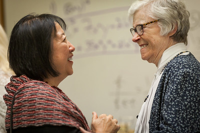 Helen Chen '64 and Sheila Malone King '50