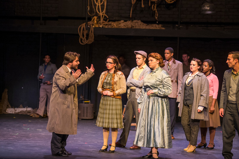 """Dress Rehearsal for SIU Theater production """"Curtains."""""""