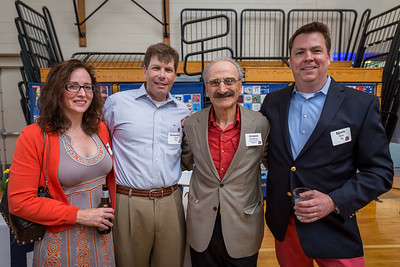 Stacey and Jonathan '85 Koff with Faculty Emeritus Armen Dedekian, and Bjorn Slate '85