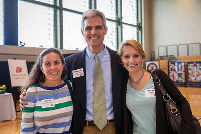 Class of 1985 Jenni Weinreb Owen, Thomas Atkinson, and Sarah Hodder