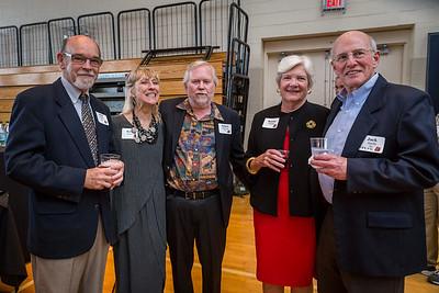 Dick Chalfen '60, Bette Kisner, James Donovan '61, Karen Chalfen, and Jack Hardy '61