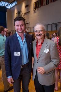 Mike Abrams '05 and Armen Dedekian, Faculty Emeritus