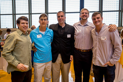 Mike Nisbet '10, Zach McLeod '10, Michael Willey US Science/Coach, Paul Gallagher '10, and Quinn Cronan '10