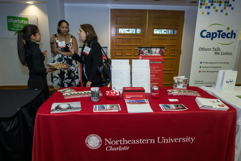 Northeastern University booth at the 2014 CIO Of The Year Awards.
