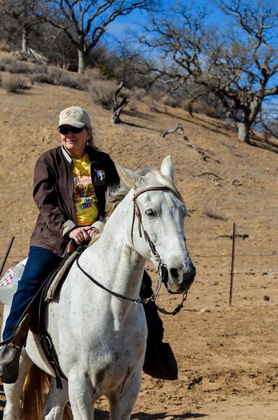 Vicki Rittner on Phil's horse Bo.