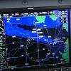 Approaching Sturgeon Bay.  Green Bay Wisconsin (KGRB) is right center.  Green spots are precipitation on radar.