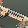 The dam on Kaw Lake, East of Ponca City, OK.  Doesn't appear to be generating any electricity, no water flow.