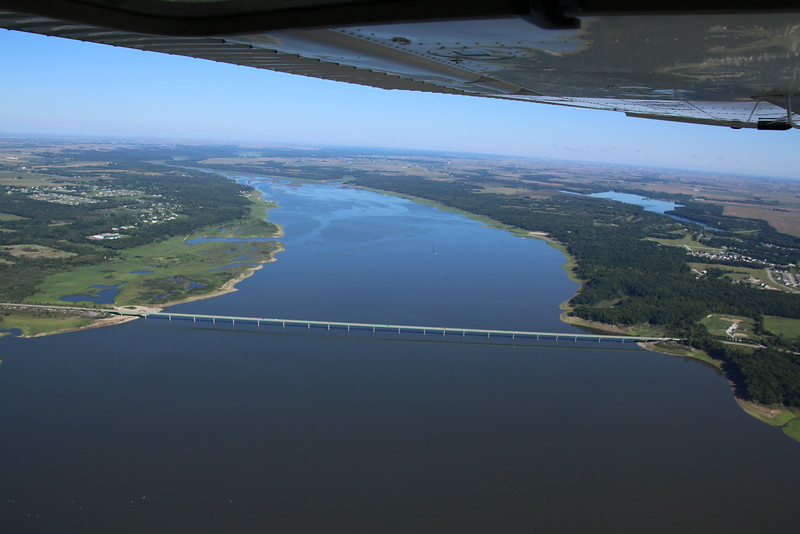 Saylorville Lake, and Big Creek Lake upper right.  Look how clear the air is.