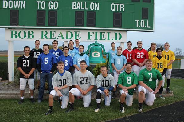 Seniors in  youth football  jerseys