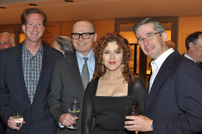 Alan Martin, Michael Casey, Bernadette Peters (Honorary Gala Chairman), Michael Granoff_credit Linsley Lindekins