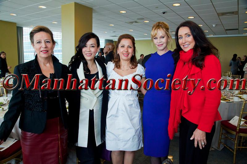Corinne Evens (Goralska) Emily Hwang (Asian Couture Federation) Karine Ohana (Ohana & Co) Melanie Griffith Liz Edlich (Radical Skincare)