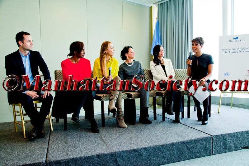 Sade Badewerina at the Ohana & Co luncheon on inclusive practices in the luxury business with Laurent claquin (kering) Bisila Bokoko renata Black Jeanette chang emily Hwang (Asian Federatin Couture)
