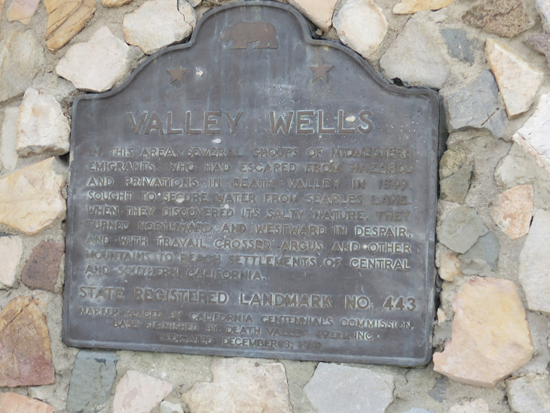 This marker was located on Trona Road