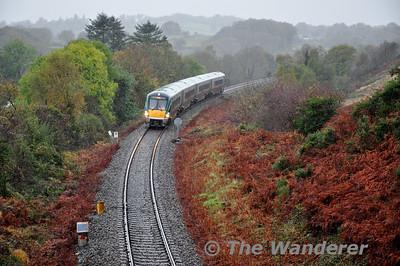 22015 at Minish, near Kilalrney with the 1305 Tralee - Mallow. Sat 01.11.14