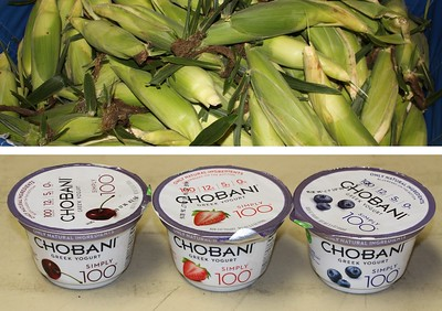 Free Corn and Greek Yogurt, Salvation Army, Tamaqua (8-22-2014)