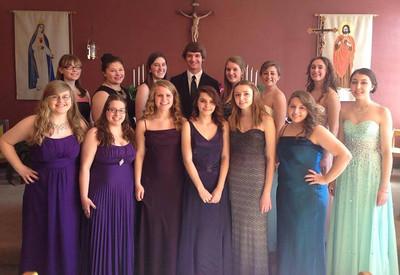 Marian Students Participate in Schuylkill County Chorus Festival, Pottsville (2-27-2014)