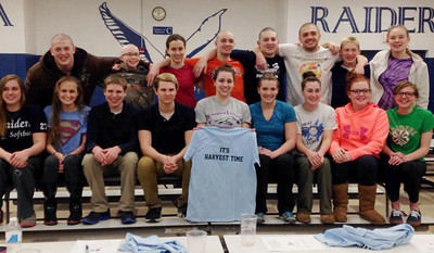 Tamaqua Swim Team Prior to Competing in District XI Championship at Parkland, Tamaqua (2-27-2014)