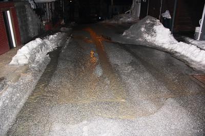 Water Main Leak, Bowe Street, Tamaqua (2-22-2014)