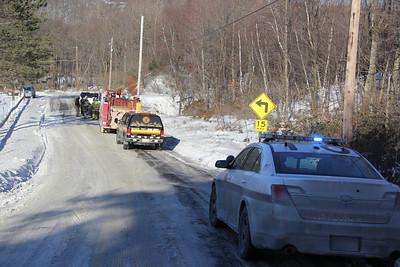 Car Into a Pole, Trenton Street, Delano (1-29-2014)
