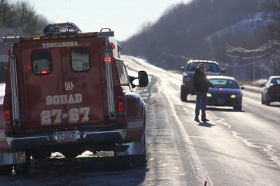 Car vs Van, SR209 and Catawissa Street, Tuscarora, Schuylkill Township (1-29-2014)