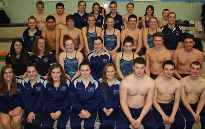 Senior Recognition, Tamaqua Swim Team, High School Pool, Tamaqua (1-29-2014)