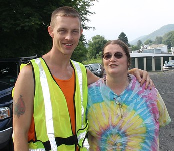 Donation Drop-Off and Tamaqua Community Giveaway, next to Shickram's Car Wash, Tamaqua (7-27-2014)