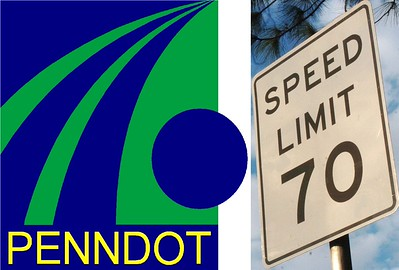 PennDOT logo, Pennsylvania Department of Transportation, 70 MPH (7-23-2014)
