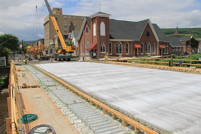 Current Status of Bridge Work, East Broad Street, US209, Tamaqua (6-26-2014)
