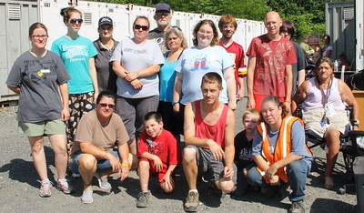 Donation Drop-Off & Tamaqua Community Giveaway, next to Schickram's Car Wash, Tamaqua (6-28-2014)