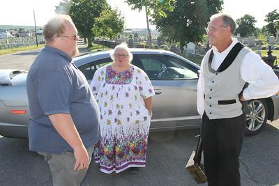 Thomas Jolin Visits GAR Cemetery, performs at Heritage Center, Summit Hill (6-25-2014)