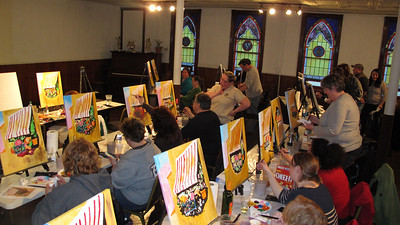 Paint and Sip, St. Luke's Group, Community Arts Center, Tamaqua (3-26-2014)