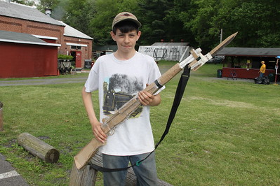 Boy and His Cardboard Gun, No. 9 Mine and Museum, Lansford (5-25-2014)