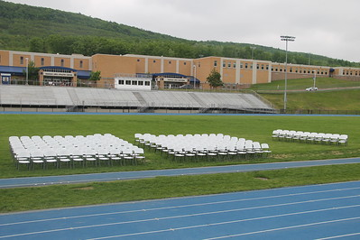 Preparing for Tamaqua's Graduation, Sports Stadium, Tamaqua (5-29-2014)