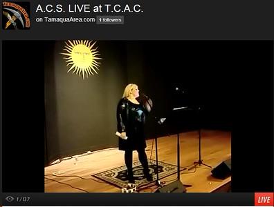 Live ACS Concert Image TCAC, Tamaqua Community Arts Center, Tamaqua (11-22-2014)