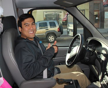 Nick Zigmant, YMCA Bus, Salvation Army, Tamaqua (11-18-2014)