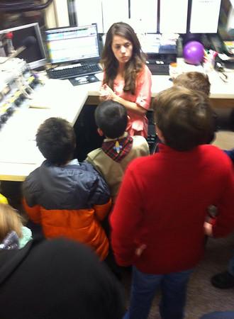 Tamaqua Scouts visit Radio Station, WMGH, Lansford, Summit Hill (11-25-2014)