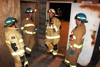 South Ward Fire Company Training, Basket, Fire Department Training Grounds, Tamaqua (10-30-2014)