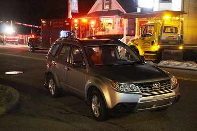 Driver Taken Into Custody after Striking Vehicle, Sheering Pole, Tamaqua (9-25-2014)